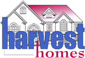 Harvest Home Blue and Red Logo