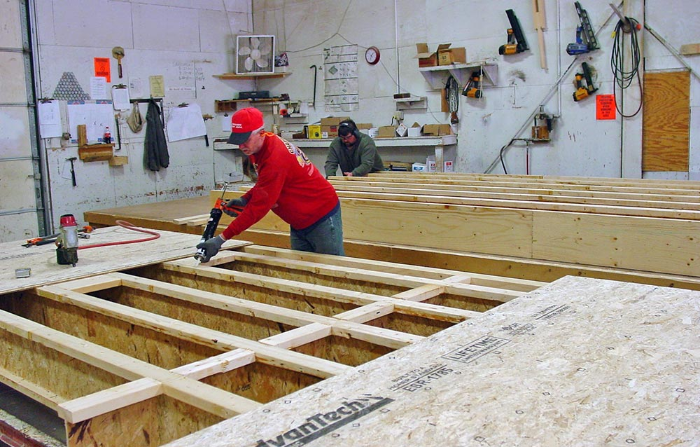 Builders at Harvest Homes Factory building Panelized Walls