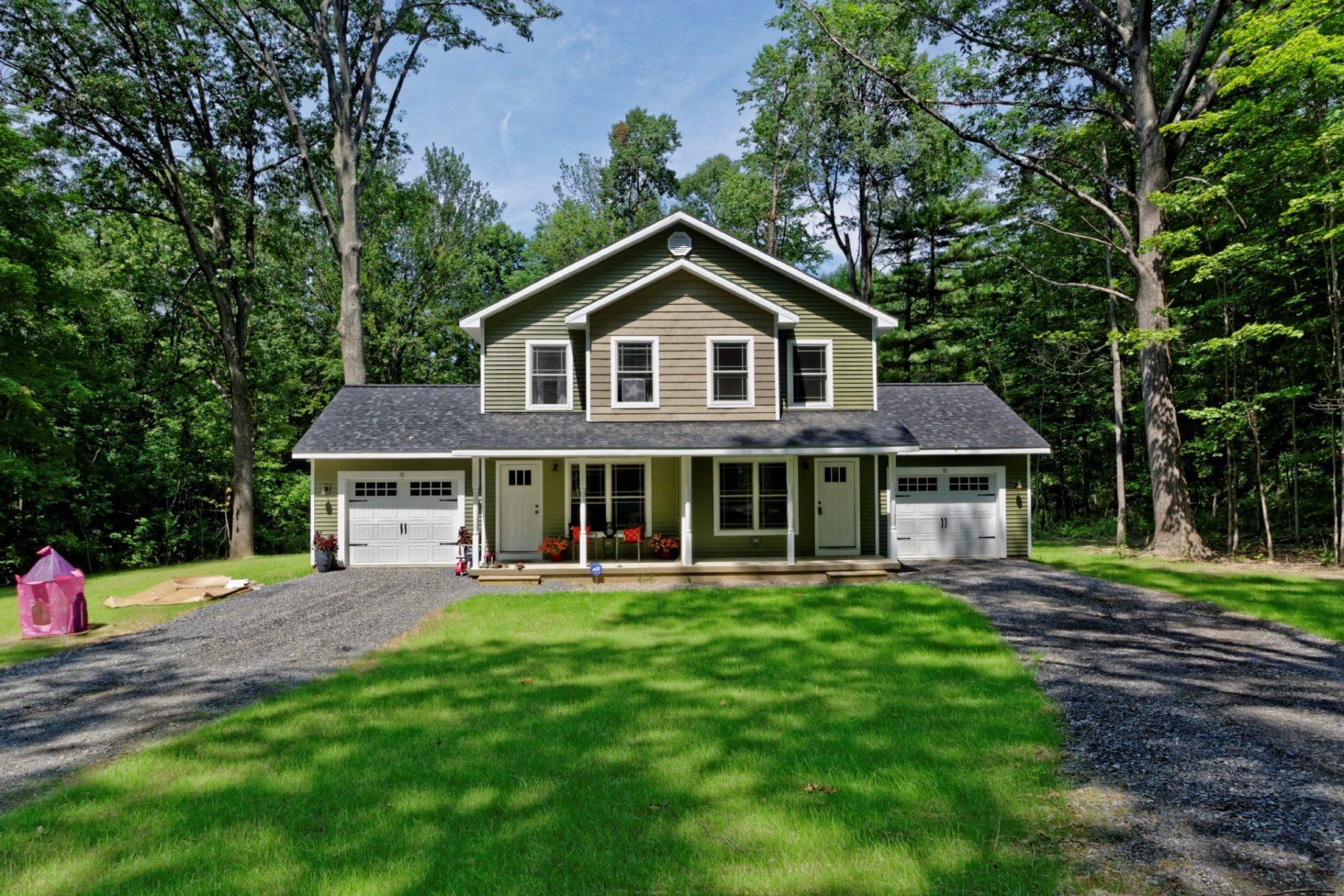 Finished panelized duplex home on Saratoga Lake