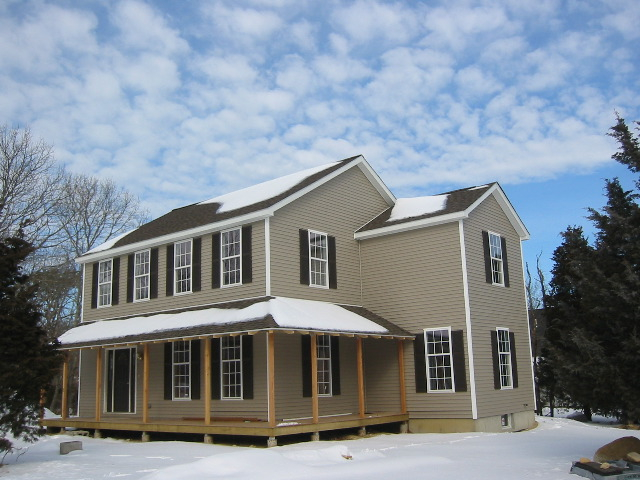 Arrowhead Homes Custom Home in Winter