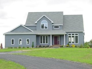 Blue custom home