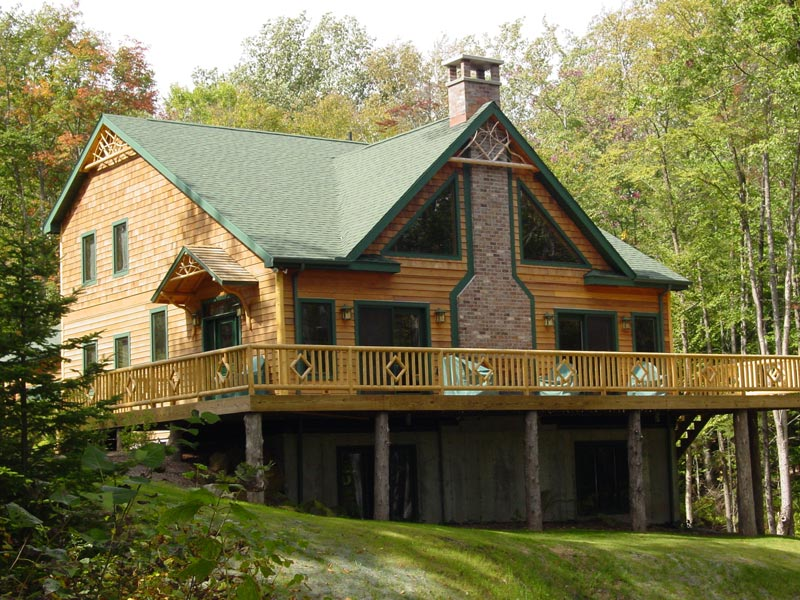 Adirondack Style Custom Home with large deck