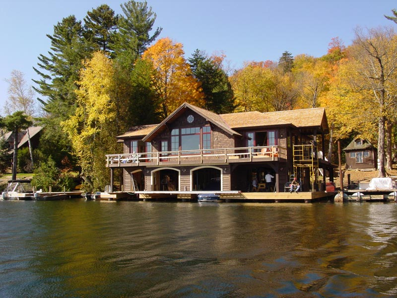 Lake Home on shore