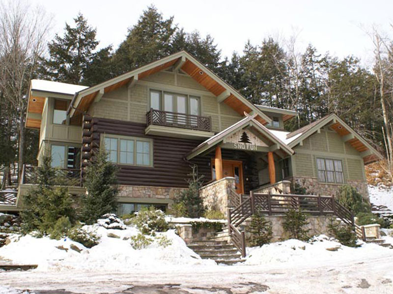 Adirondack style log home